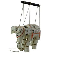 Wooden Marionette Elephant Vintage Wooden by GenerationUpcycle