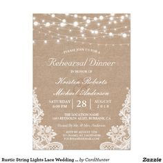 Home Remodel Additions Rustic Burlap String Lights Lace Bridal Shower Invitation.Home Remodel Additions Rustic Burlap String Lights Lace Bridal Shower Invitation Invitation Baby Shower, Rustic Bridal Shower Invitations, Bridal Shower Cards, Country Wedding Invitations, Rehearsal Dinner Invitations, Wedding Rehearsal, Wedding Reception, Rehearsal Dinners, Wedding Stationery