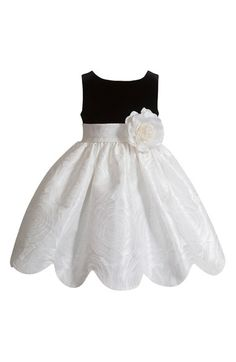 Look at this Kleinfeld Pink Black & White Flower Dress - Infant, Toddler & Girls on today! Little Girl Dresses, Girls Dresses, Flower Girl Dresses, Baby Dresses, Dress Girl, Little Girl Fashion, Kids Fashion, Fashion Outfits, Toddler Girl Dresses
