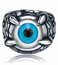 Ai Stainless Steel Jewelry – Anillo hecho con acero inoxidable para hombre, color azul