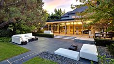 """This is the backyard of the late Robert Sherman, who with his brother wrote songs for such classic films as """"Mary Poppins,"""" """"Chitty Chitty Bang Bang"""" and """"The Jungle Book."""" It's in Beverly Hills and it has an asking price of $9.95 million."""