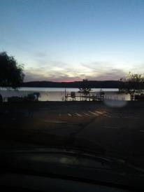 Lake Geneva, Wisconsin at night.