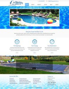 Swimming Pool Website Design custom website design template 53611 bulbo water polo ball swimming pool Swimming Pool Services Water Website Custom Website Design