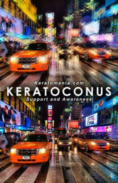 Keratoconus poster: a simulation of keratoconus patient vision. / Please LIKE our Facebook page, help us to raise awareness about Keratoconus, receive latest news and information and share your experiences with other patients. http://facebook.com/Keratomania