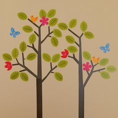 The Land of Nod | Kids' Wall Decals & Wallpaper: Kids Tree Reusable Wall Decal Stick Ons in Wall Decals