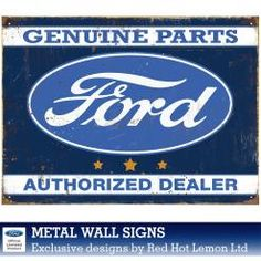 FORD GENUINE PARTS DEALER WALL SIGN