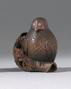 WOOD NETSUKE Meiji Period By Mitsuhiro. Depicting an owl with inlaid eyes perched on a tree branch. Pebble Painting, Stone Painting, Pebble Art, Edo Era, Turning Japanese, Japanese Characters, Owl Art, Tree Branches, Asian Art
