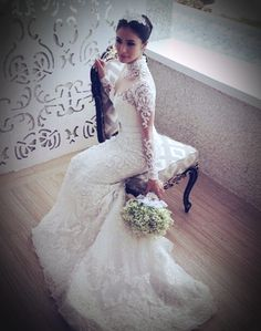 ed24adceb25 Heart Evangelista s Wedding Gown by Ezra Santos - a Grace Kelly inspired   WeddingGown  fashion