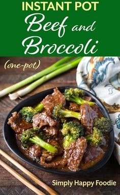 Instant Pot Beef and Broccoli is a one-pot Chinese style meal that is as good as. - Instant Pot Beef and Broccoli is a one-pot Chinese style meal that is as good as take out! Beef Recipe Instant Pot, Instant Pot Dinner Recipes, Instant Pot Chinese Recipes, Recipes Dinner, Instant Recipes, Dessert Recipes, Beef Recipes, Cooking Recipes, Healthy Recipes