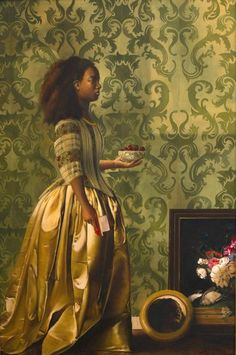 Best of Contemporary Art Week! Kehinde Wiley: Various Works Self-Evident Truths by S. Ross Browne Xin Yin: After Master Qavah the Brave by ~Wes-Talbott Toyin Odutola: Of Another Kind Tamara. Black Girl Art, Black Women Art, Black Girls, Black History, Art History, European History, Tableaux Vivants, Mileena, Storyboard Artist