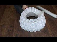 Hóember készítés műanyag poharakból - YouTube