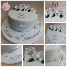 Diamond Anniversary Cake https://m.facebook.com/PataCakeCupcakes.Preston