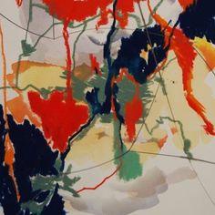Detail of aerial landscape in oil pastel by #Julia Swanepoel Pepler coming to our Art Fair on Sunday 27 November @roodebloemstudios