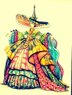 Indonesian national costume Coco, Sketches, Costumes, Illustration, Fashion, Drawings, Moda, Dress Up Clothes, Fashion Styles