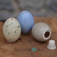 jajka ceramiczne, solniczki, pieprzniczki, na wielkanoc