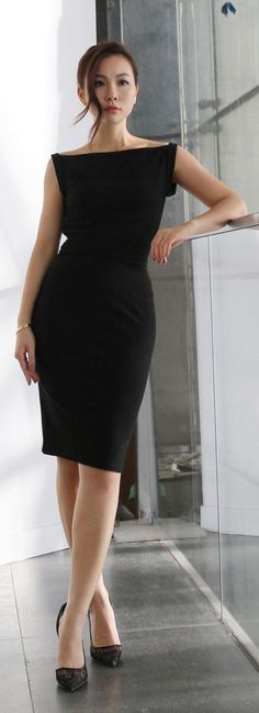 Work Chic. Via @devalera. #LBD #officewear