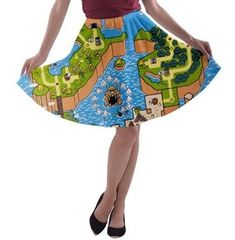 SMW Super Mario World map pre-sale skater skirt orders depicting one of several different hand painted images. The artwork was originally hand painted in either watercolor or acrylic by this shops two operating artists. Watercolor Pencils Techniques, Watercolor Artists, Types Of Pencils, Super Mario World, Artist Art, Skater Skirt, Shops, Ballet Skirt, Hand Painted