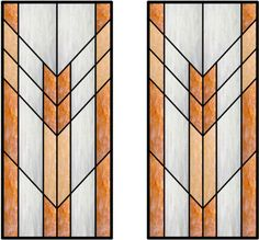 The strong chevrons in this design will create a stunning statement in many kitchen designs.  By using a mixture of textured or colored glasses you can create a strong or subdued impression.  Have the lead came in this design complement your cabinet hardware or match your kitchen appliances.