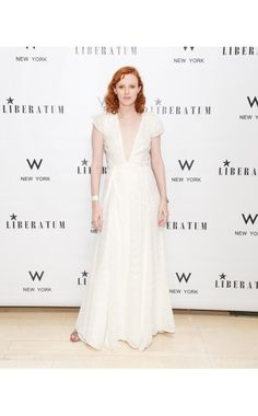 Ten Best Dressed — Karen Elson | Reformation dress and Tabitha Simmons shoes