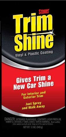 Stoner - Trim Shine for Vinyl, Plastic, & Rubber! Invisible Glass, Plastic Coating, Exterior Trim, Racing, Cleaning, Car, Running, Automobile