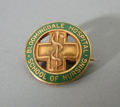 Tiffany & Co. 14K Gold Pin 1936 Bloomingdale Hospital School of Nursing Nurse #TiffanyCo