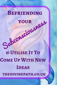 Reiki Healer and Tarot Reader Amanda at The Divine Path talks about how to befriend your subconsciousness and have it work for you - rather than against you.