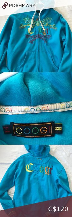 Coogi Hoodie size Hoodie is in excellent used condition COOGI Sweaters Plus Fashion, Fashion Tips, Fashion Design, Fashion Trends, Hoodies, Sweatshirts, Blue Yellow, Men Sweater, Graphic Sweatshirt