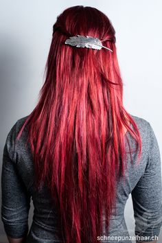 Bunte Farben - SchneePunzel - professionelle Haarverlängerungen und Dreadlocks Elegant, Hair Colors, Red Hair, Hair Extensions, Dreadlocks, Make Up, Hair Styles, Beautiful, Ideas