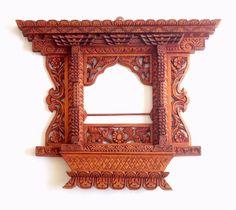 Vintage Style 18th Century Newari Nepali Wooden Frame Wall Decor