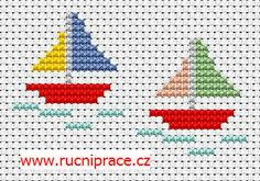 Boats cross stitch pattern