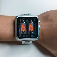 Vulcan – A Nixie Tube Watch Project Smart Watch Apple, Apple Watch Series 1, Nixie Tube Watch, Digital Watch Face, Iphones For Sale, Android Watch, Popular Watches, Electronics Projects, Beautiful Watches