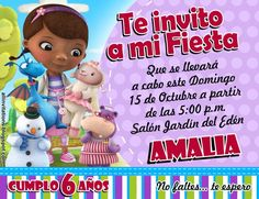 Invitación Cumpleaños Doctora McStuffins