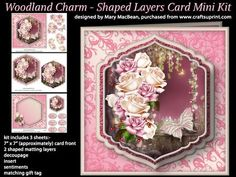 Woodland Charm Shaped Layers Card Mini Kit on Craftsuprint - View Now!