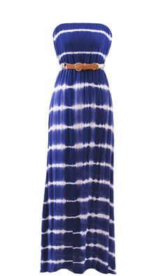 Cobalt Tie Dye Maxi : 4th of July!