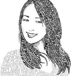 34 Ideas Word Art Drawings Self Portraits School Art Projects, Art School, Typography Portrait, Typography Art, Creative Typography, Vintage Typography, Classe D'art, 8th Grade Art, Inspiration Art