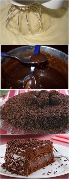 BOLO BRIGADEIRO ESSA RECEITA É UMA TENTAÇÃO DE GOSTOSURA!! VEJA AQUI>>>>Bata na batedeira as claras em neve bem firmes, aos poucos, sem parar de bater junte as gemas uma a uma e o açúcar Despeje o leite aos poucos, sem parar de bater #receita#bolo#torta#doce#sobremesa#aniversario#pudim#mousse#pave#Cheesecake#chocolate#confeitaria