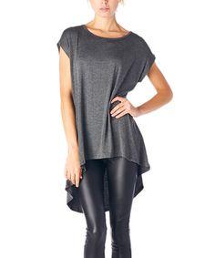 Charcoal Sleeveless Hi-Low Tunic #zulily #zulilyfinds