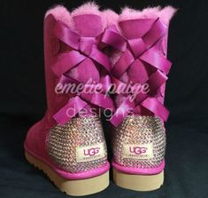 UGG® Australia Bailey Bow boots with Swarovski Crystals from Emelie Paige Designs. Ugg Boots With Bows, Ugg Boots Sale, Bow Boots, Bailey Bow, Shoe Game, Ugg Australia, Winter Boots, Fashion Boots, Sperrys