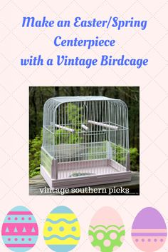 Easter Vintage Birdcage Masterpiece