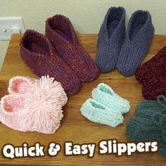 Crochet And Knitting : Crochet and Knitting patterns for Slippers - free!