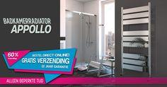 Badkamerradiator - APOLLO is een solide, praktische en aantrekkelijke handdoekradiator.. Pak je radiator online ..