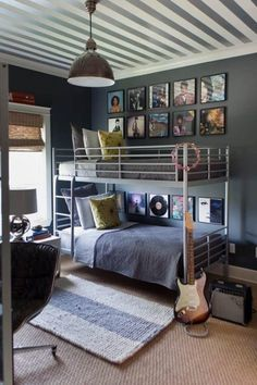 Bedroom:Teenage Boys Bedroom Ideas With Nice Color Theme Awesome Teenage Boys Bedroom With Bunk Beds