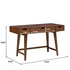 Sverre Solid Wood Writing Desk
