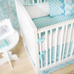 pretty blue, or not turquoise enough? Teal Baby Bedding