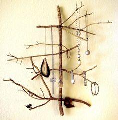 DIY Stick Jewelry Display by Gadora Wilder.