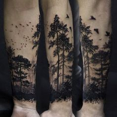 60 Forearm Tree Tattoo Designs For Men Forest Ink Ideas - Wald Tattoo