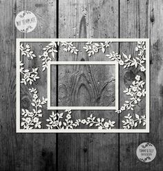 50% SALE!!!! SVG / PDF Vintage Flower Photo Frame - Papercutting / Vinyl Template to cut yourself (Commercial Use)