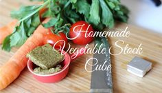 How to make your Vegetable Stock Cube EASILY. If you are like me and you don't trust whats inside the vegetable stock you are buying... follow my advice... MAKE IT BY YOURSELF Believe me, it is not difficult and makes everything SO TASTY!  Its been only a couple of months I am blogging but... Vegetable Stock Cubes, Cantaloupe, Blogging, Trust, Advice, Couple, Homemade, Make It Yourself, Vegetables