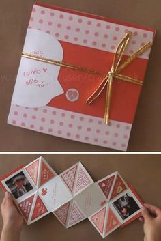 Friend Birthday Gifts, Diy Birthday, Birthday Cards, Paper Crafts Origami, Diy Paper, Book Crafts, Crafts To Do, Squash Card, Amor Ideas