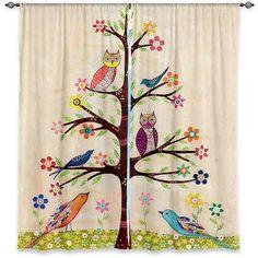 Nature/Floral Room Darkening Curtain Panels